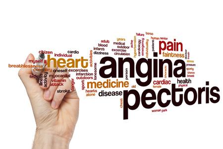 angina: Angina pectoris word cloud concept Foto de archivo
