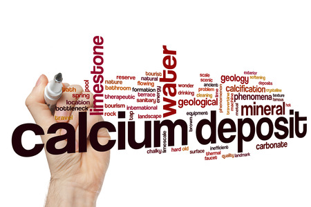 Calcium deposit word cloud concept