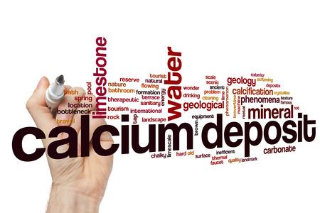 calcification: Calcium deposit word cloud concept
