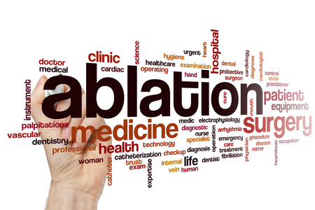 fibrillation: Ablation word cloud concept Stock Photo