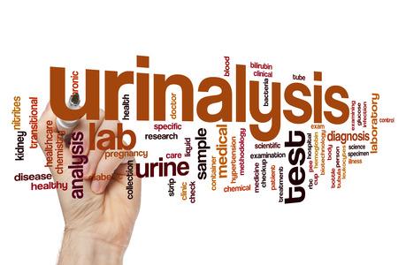urinalysis: Urinalysis word cloud concept