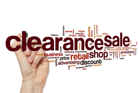 clearance: Clearance sale word cloud concept
