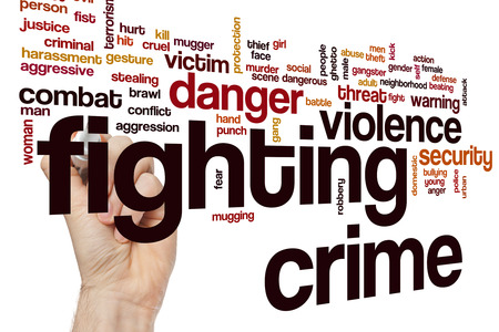 crime: Fighting crime word cloud concept