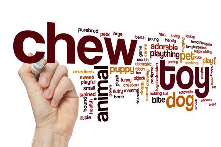 chew: Chew toy word cloud