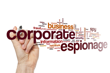 espionage: Corporate espionage word cloud concept
