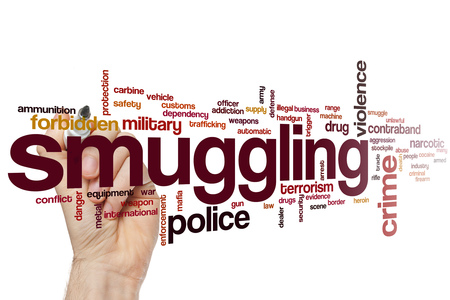Smuggling word cloud concept Stock Photo