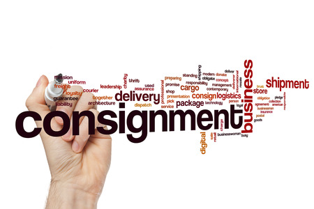 consignment: Consignment word cloud concept Stock Photo
