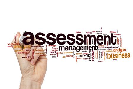 assessment system: Assessment word cloud concept