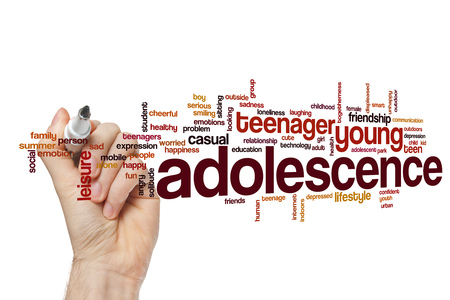 Adolescence word cloud concept