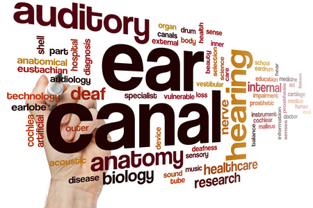 Ear canal word cloud concept Stock Photo