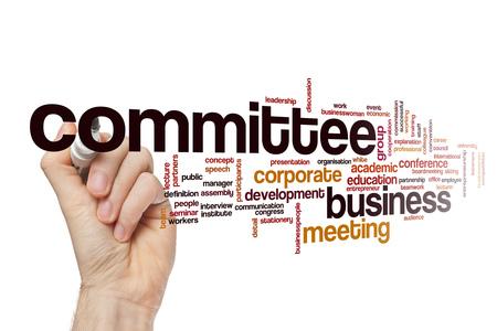 委員会の単語の雲
