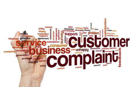 Customer complaint word cloud