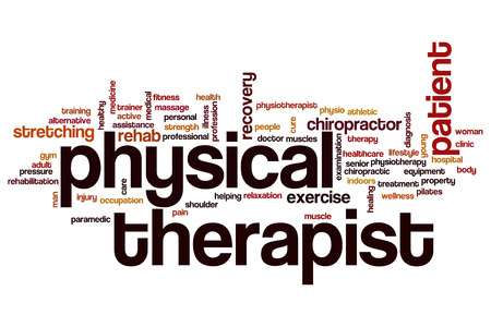 Physical therapist word cloud concept Stock Photo