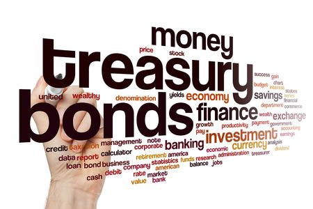 treasury: Treasury bonds word cloud concept
