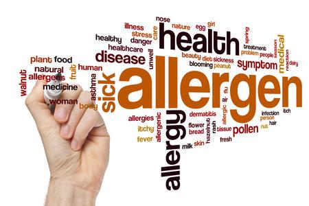 alergenos: Alérgeno concepto de nube de palabras