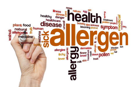 Allergen word cloud concept
