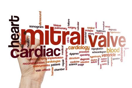 Mitral valve word cloud Stock Photo