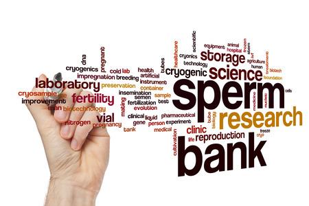 Sperm bank word cloud concept Stock Photo