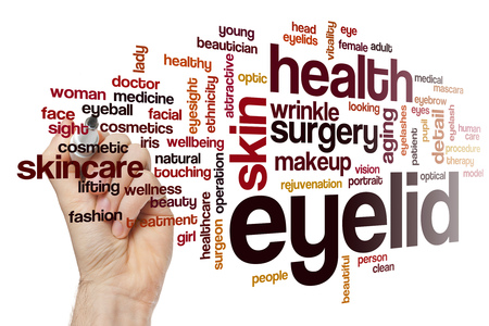 and eyelid: Eyelid word cloud concept