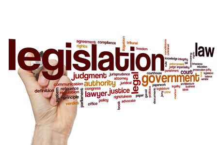 lawmaking: Legislation word cloud concept