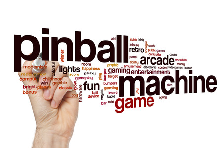 Pinball machineword cloud Stock Photo