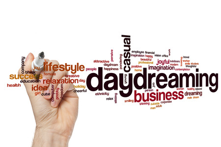 daydreaming: Daydreaming word cloud concept