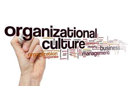 organizational: Organizational culture word cloud Stock Photo