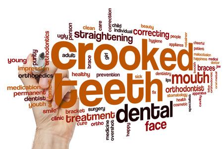 crooked teeth: Crooked teeth word cloud concept