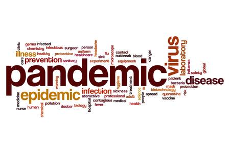 pandemic: Pandemic word cloud concept