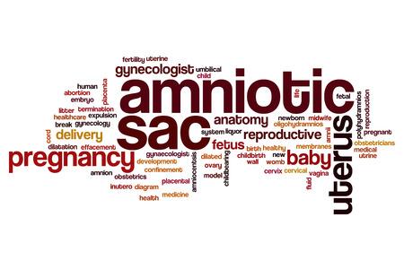 sac: Amniotic sac word cloud concept