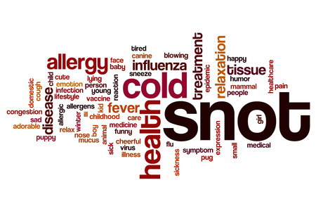 snot: Snot word cloud concept Stock Photo