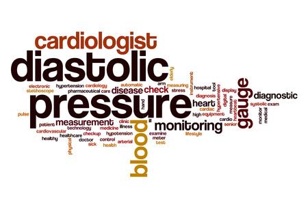 diastolic: Diastolic pressure word cloud concept