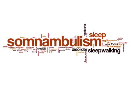 somnambulism: Somnabulism word cloud concept