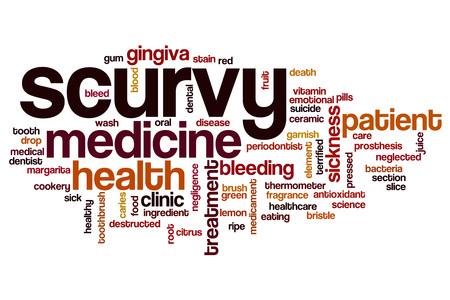 scurvy: Scurvy word cloud concept Stock Photo