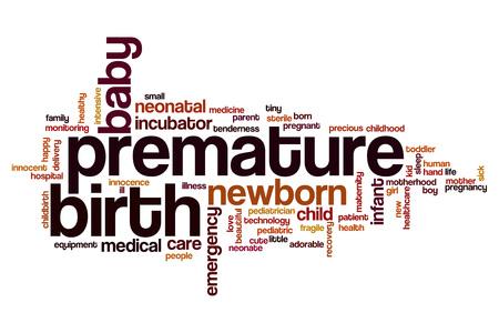 premature: Premature birth word cloud concept