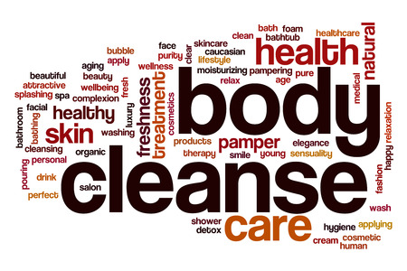 cleanse: Body cleanse word cloud concept