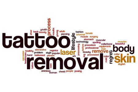 collarbone: Tattoo removal word cloud concept