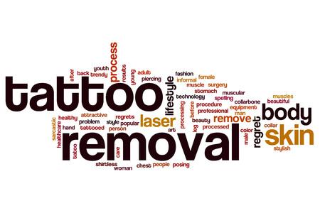 Tattoo verwijdering word cloud concept