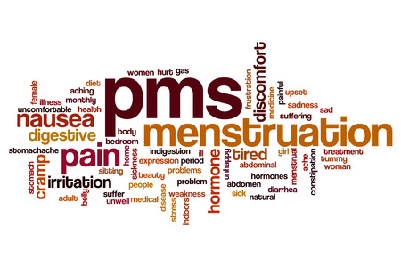 PMS word cloud concept Stock Photo