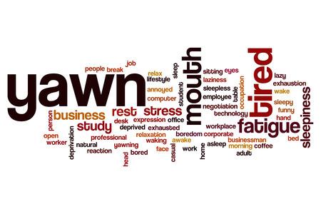 the yawn: Yawn word cloud concept Stock Photo