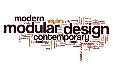 Il design modulare Word cloud concetto Archivio Fotografico