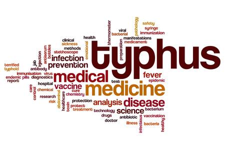 typhus: Typhus word cloud concept