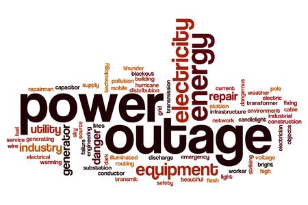 outage power: Power outage word cloud concept