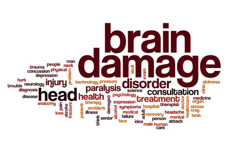 brain damage: Brain damage word cloud concept