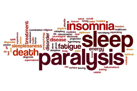 afterlife: Sleep paralysis word cloud concept