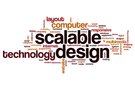 scalable: Scalable design word cloud concept