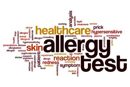 hypersensitivity: Allergy test word cloud concept