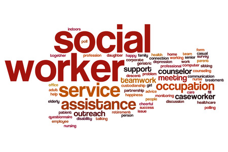 Social worker word cloud concept