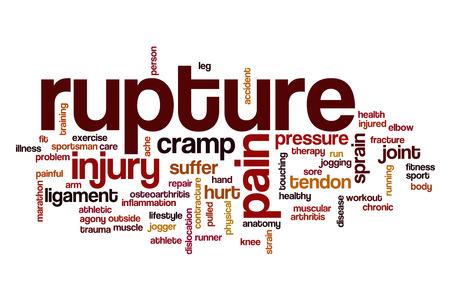 rupture: Rupture word cloud concept Stock Photo