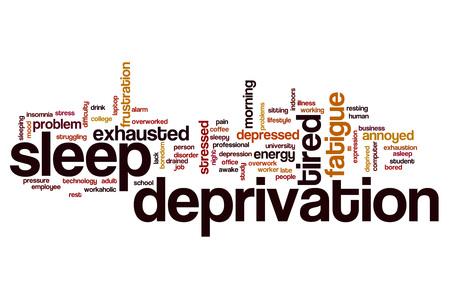 Spánková deprivace slovo mrak pojetí Reklamní fotografie